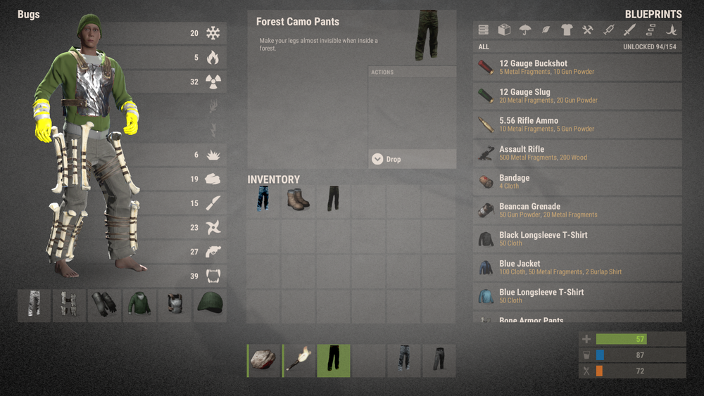 Image result for rust crafting menu